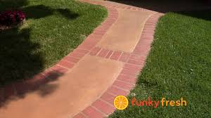 How To Clean Colored Concrete Patio How To Stain Concrete Without Using Acid Youtube