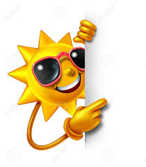sun summer as a three dimensional character holding