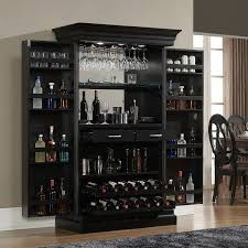 locking wine display cabinet angelina black bar wine enthusiast