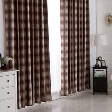 Blackout Curtains For Bedroom Blackout Plaid Designed Bedroom Curtains