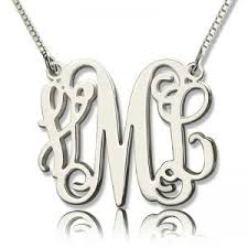 personalized monogram necklace personalized monogram necklace