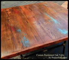 custom made dining room tables hand made custom reclaimed oak dining table industrial table