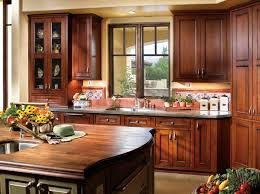 Ceramic Oil Rubbed Bronze Pull by Rustic Kitchen With Old Dark Cherry Wood Kitchen Cabinets Stone