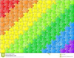 jigsaw puzzle in rainbow colors royalty free stock image image