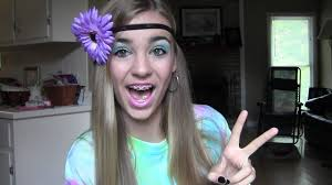 hippie ideas for halloween retro hippie halloween makeup tutorial youtube