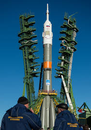 countdown begins for soyuz launch with space station crew trio