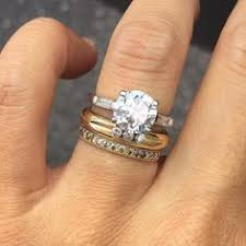 yellow gold wedding band with white gold engagement ring a mix of a white gold engagement ring and a yellow and diamond