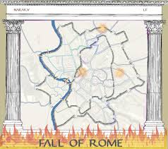Rome On World Map Fall Of Rome Map