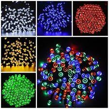 Solar Powered Christmas Tree Lights by Outdoor Solar Christmas Lights Ebay