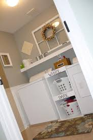 myers four a laundry room redo hidden around the corner is our diy drying rack we made this ballard inspired laundry room drying rack by following this tutorial i love it