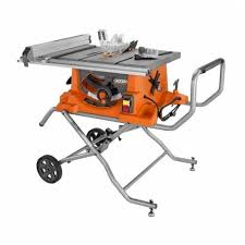 portable track saw table ridgid 15 amp 10 in heavy duty portable table saw with stand for