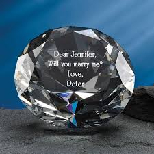 personalized paper weight gifts diamond paperweight