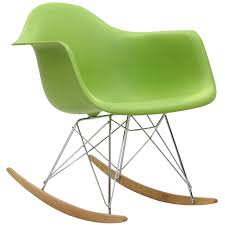 modern abs plastic shell rocking chair interiortradefurniture