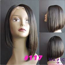 low hight hair high low bob silky straight front lace wigs extensions