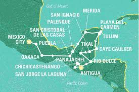 Merida Mexico Map by Central America In Depth Mexico Tours Geckos Adventures Au
