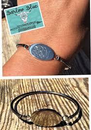 Monogram Bangle Bracelet Monogrammed Bangle Cuff Bracelet U2013 Barlow Blue
