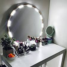 4 led lights mirror circle amazon com penson lighted mirror led light for cosmetic makeup