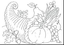 thanksgiving cornucopia coloring pages free to print empty page