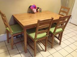 Pull Out Table Jokkmokk Dining Table 4 Chairs With Cushion Ikea Furniture For