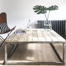 living room inspirations reclaimed wood and metal coffee table