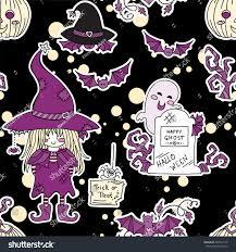 kawaii halloween wallpaper vector seamless pattern kawaii halloween design stock vector