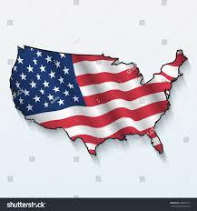 Waving American Flag American Flag Waving Usa Map Stock Vector 260049713 Shutterstock