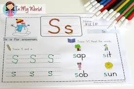 preschool letter s in my world