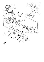 1979 yamaha yz125 yz125f crankshaft piston yz125e f parts