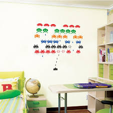 space invaders wall decal art sticker lounge living room bedroom