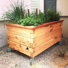 garden planters on wheels trough metal steel planter box