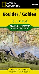 Boulder Colorado Zip Code Map by Boulder Golden National Geographic Trails Illustrated Map