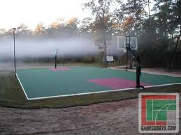 very nice treed in backyard half court pictures with marvelous