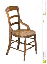 cane seat antique wood vintage chair isolated royalty free stock