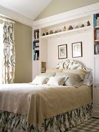 storage ideas around the headboard with custom shelves ideas for