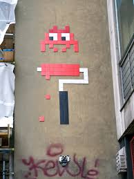 invader paint roller a life in london space invader paint roller