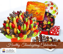 healthy thanksgiving celebrations with edible arrangements