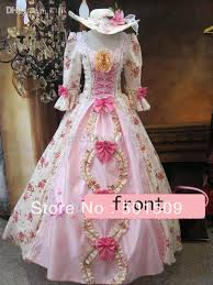Marie Antoinette Halloween Costumes Medieval Renaissance Gown Rose Dress Hat Vampire Costume