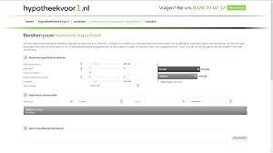 Hypotheek Berekenen Abn Netweters Websitebouw Webdesign Portfolio