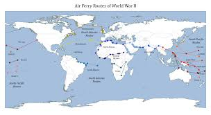 Air France Route Map by North Atlantic Air Ferry Route In World War Ii Wikipedia