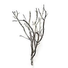 Silver Candle Wall Sconces Branch Candle Sconce