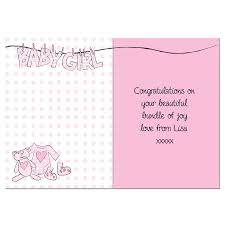baby girl cards baby girl letter w line card