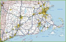 Map Of Usa With Highways by Map Of Rhode Island Massachusetts And Connecticut