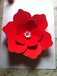 paper flower big paper flowers with durable ivory sheets at rs 150 each