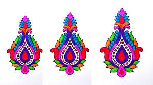simple embroidery sketch of butta make new hand embroidery saree