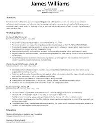 samples of resumes for highschool students school counselor resume sample resumelift com