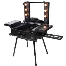 makeup case with lights and mirror buy 4 wheel rolling studio makeup case w light artist cosmetic case