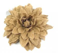 burlap flowers rustic brown burlap dahlia hair flower clip and pin diy flower