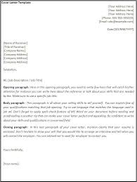 cover letter template about letter format