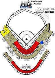 Frontier Seat Map Coca Cola Field Buffalo Bisons