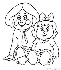 doll coloring dolls toupty